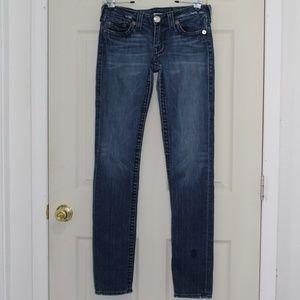True Religion Jeans, Stella Big T skinny dark wash